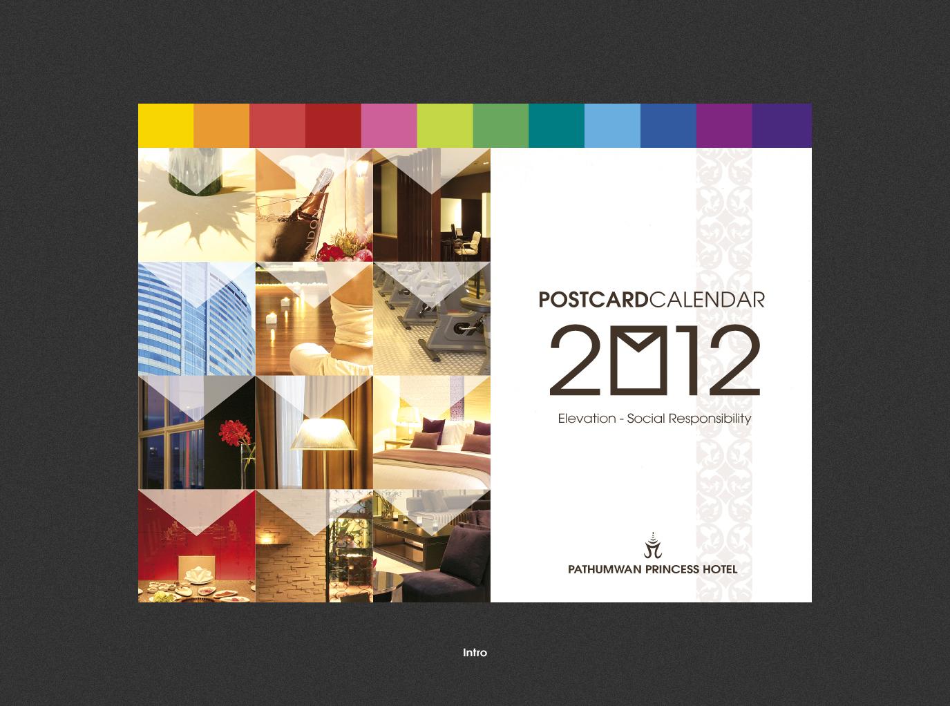 Hotel Calendar Design : Hotel postcard calendar krisada wong